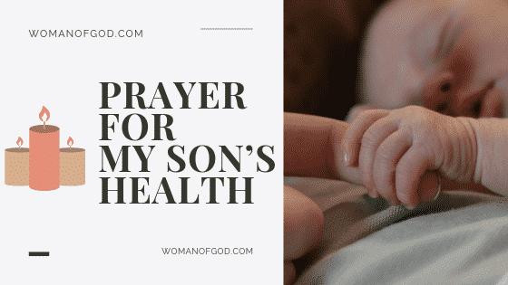 prayer for my sons health