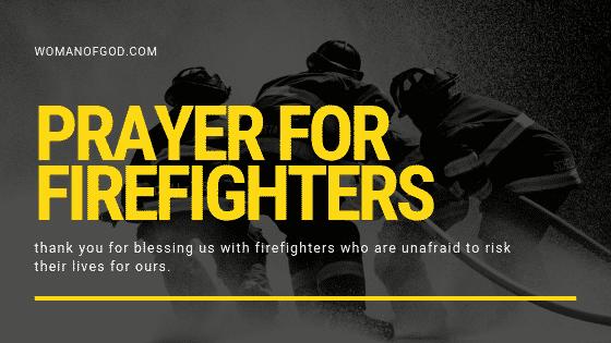 prayer for firefighters