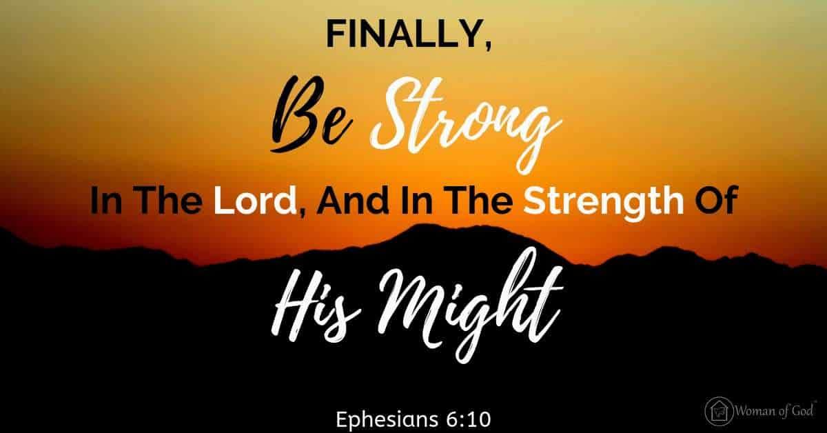 verse of the day Ephesians 6:10