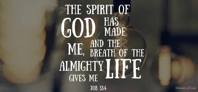 bible verse job 33 4 - banner