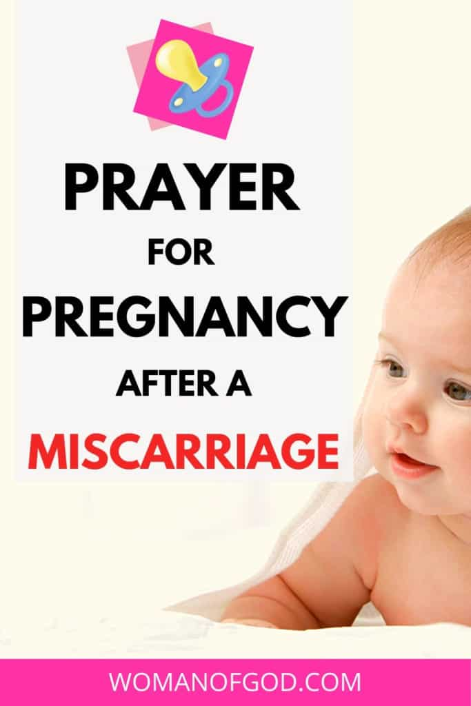 prayer for pregnancy after a miscarriage pin