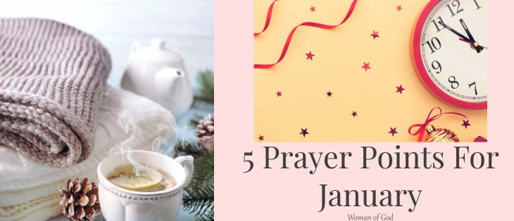 5 Prayer Points For January