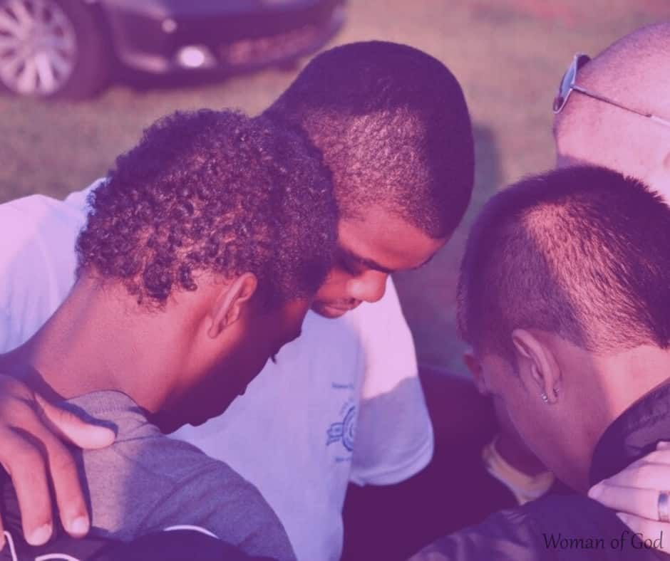 coming together to pray