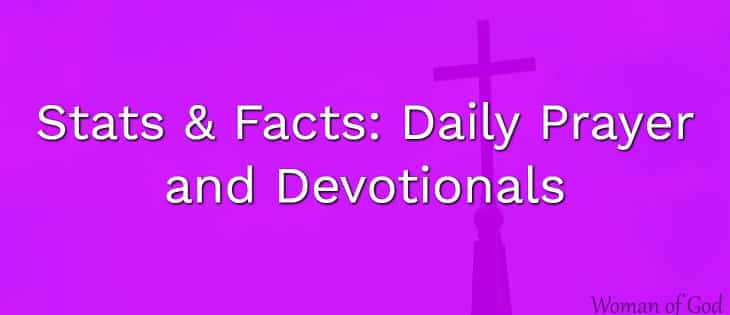 daily prayer and devotional stats