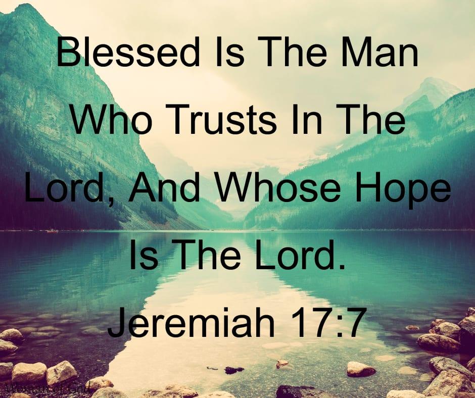 Jeremiah 17:7 Bible Verse