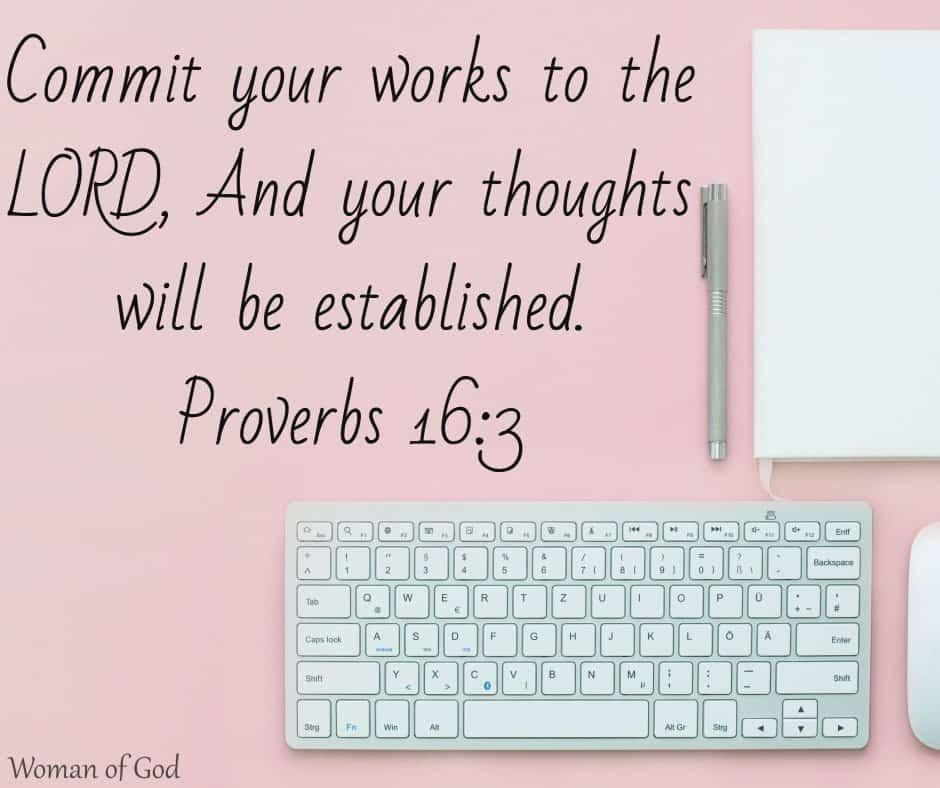 Proverbs 16:3 Bible Verse