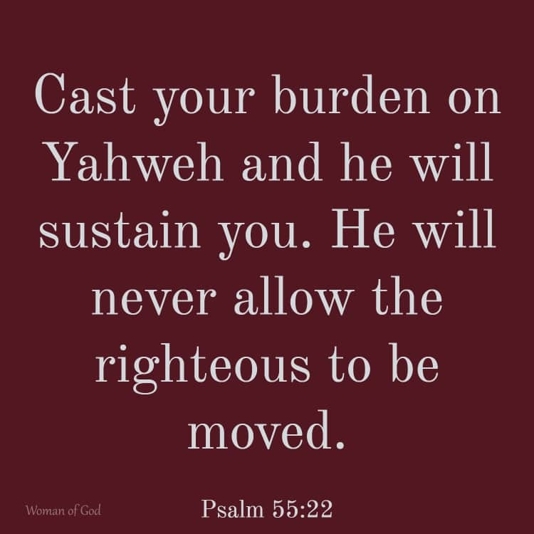 Psalm 55:22 Bible Verse