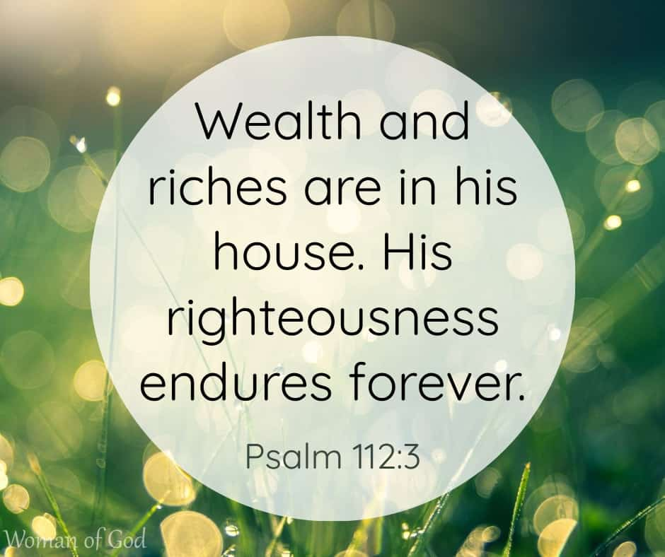 Psalm 112:3 Bible Verse