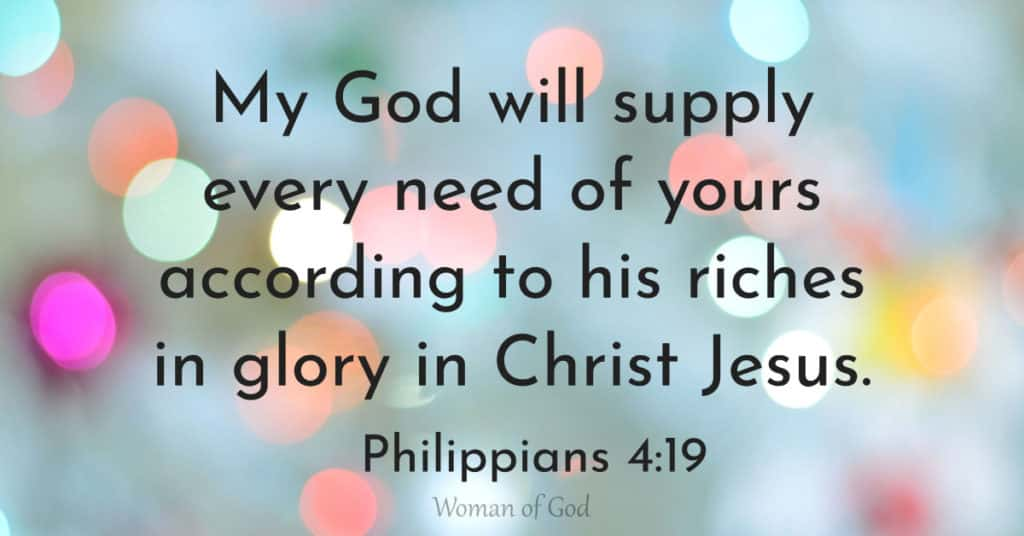 verse of the day phillipians 4:19