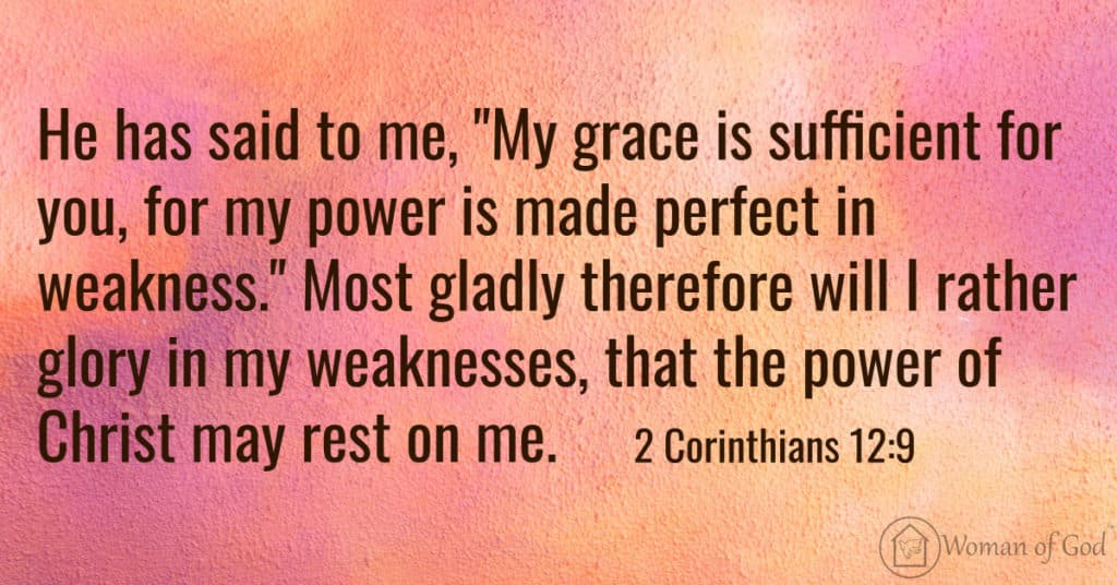 bible verse of the day 2 Corinthians 12:9
