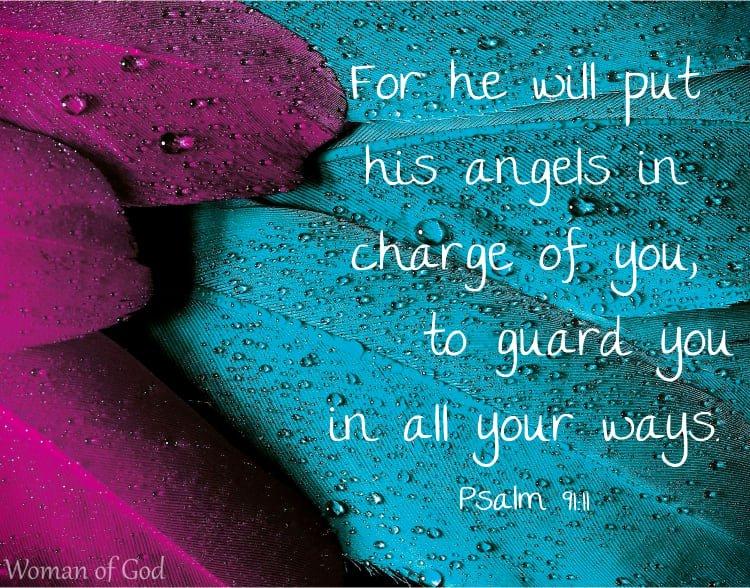 Psalm 91:11 Bible Verse