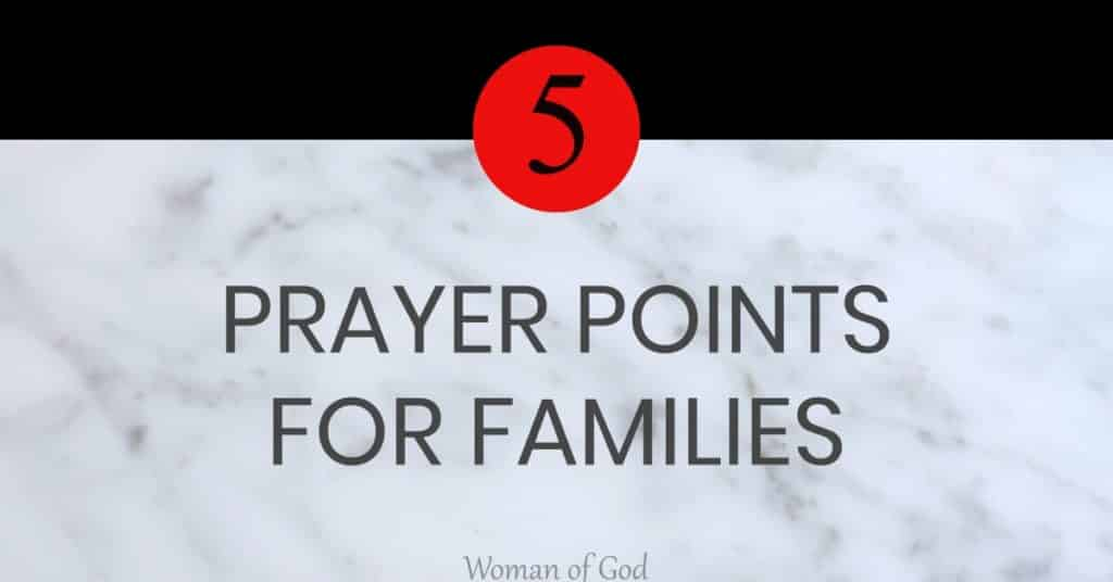 prayer points for families