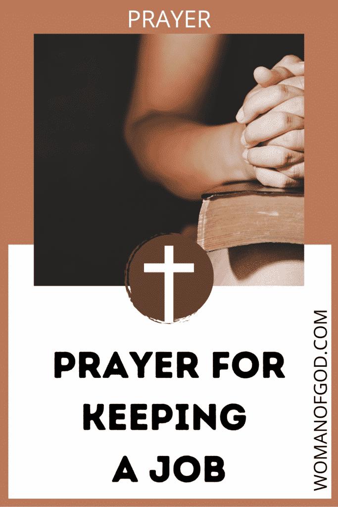 Prayer for keeping a job pin