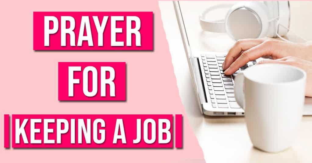 prayer for keeping a job