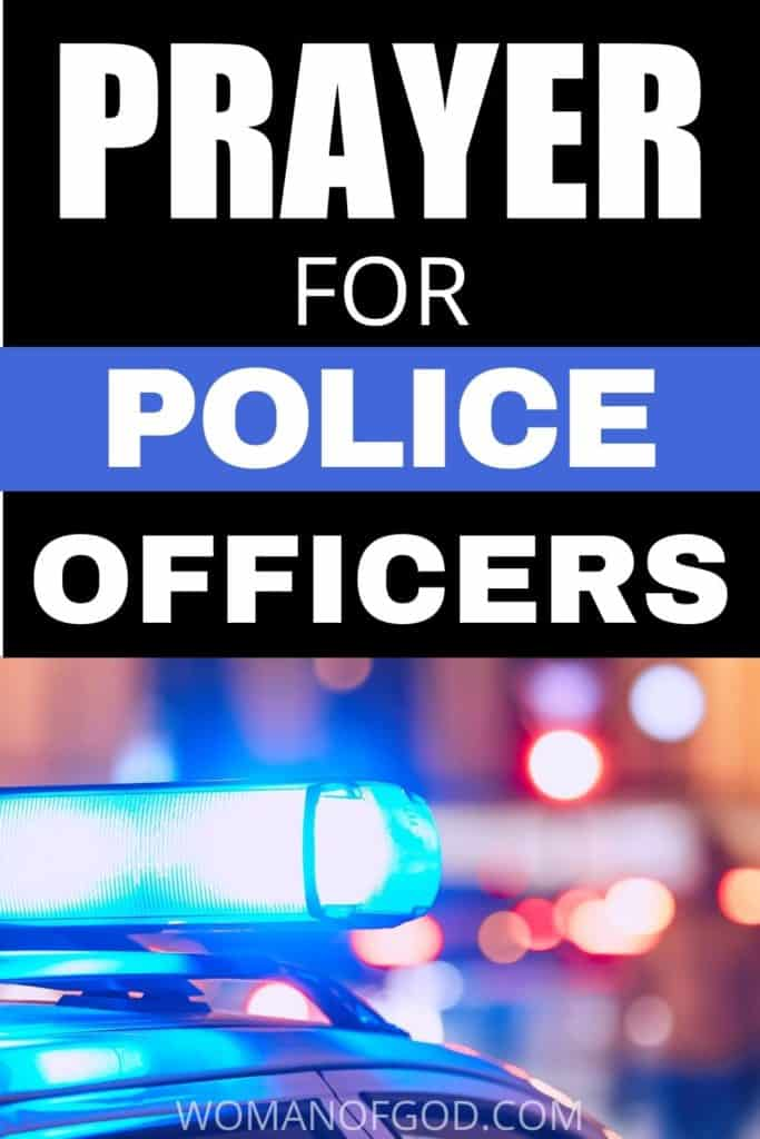 prayer for police officers pin