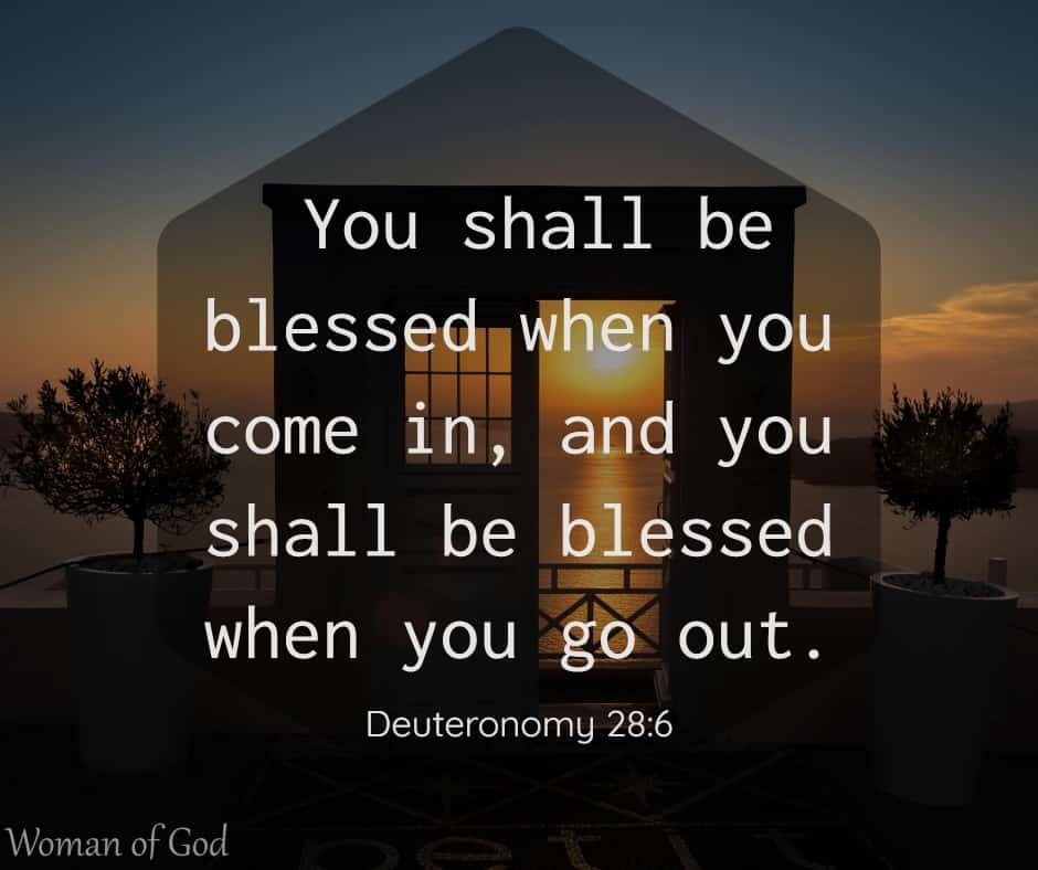 Deuteronomy 28:6 Bible verse