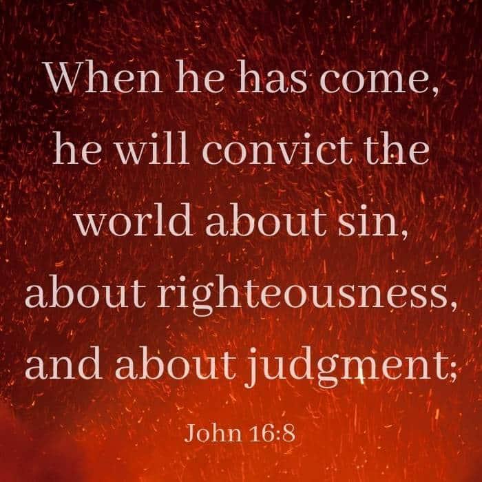 John 16:8 Bible Verse