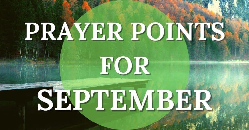 prayer points for september