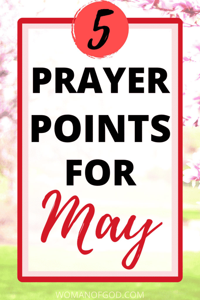 prayer points for may pin