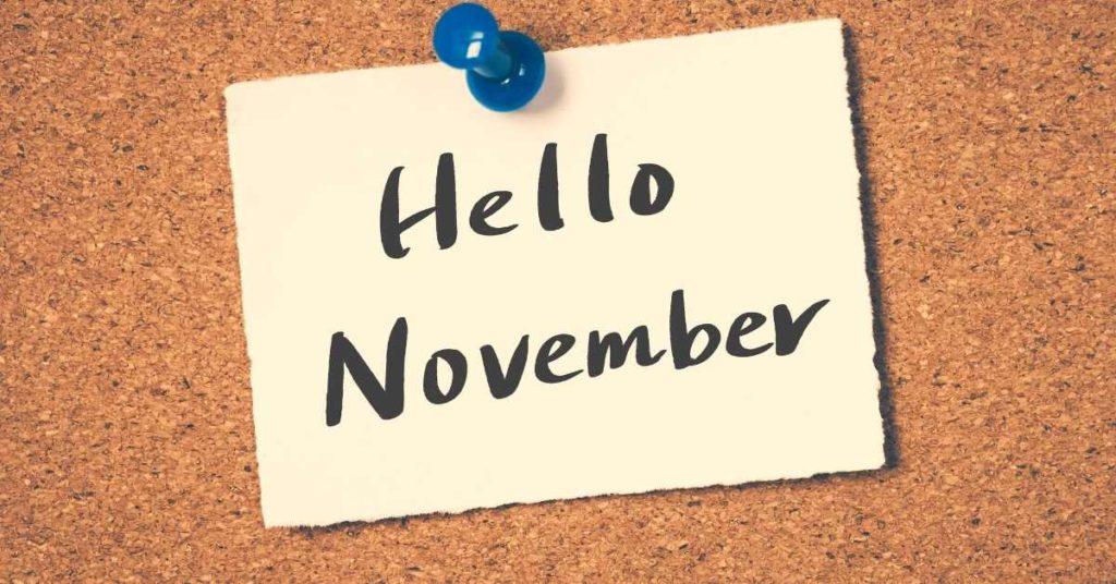 prayer points for november