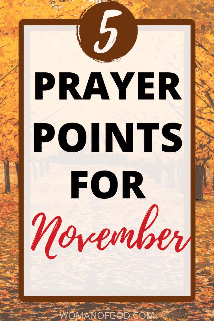 prayer points for november pin